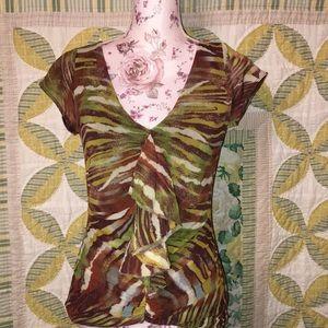 WESTON WEAR multi color vneck  blouse